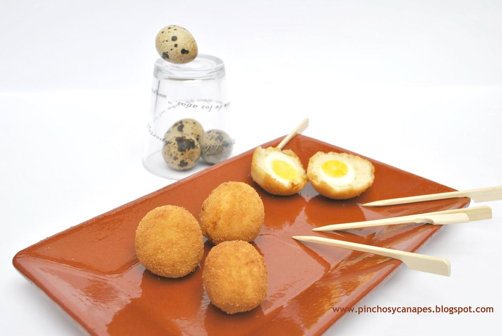 pinchos que se pueden hacer con huevos de codorniz