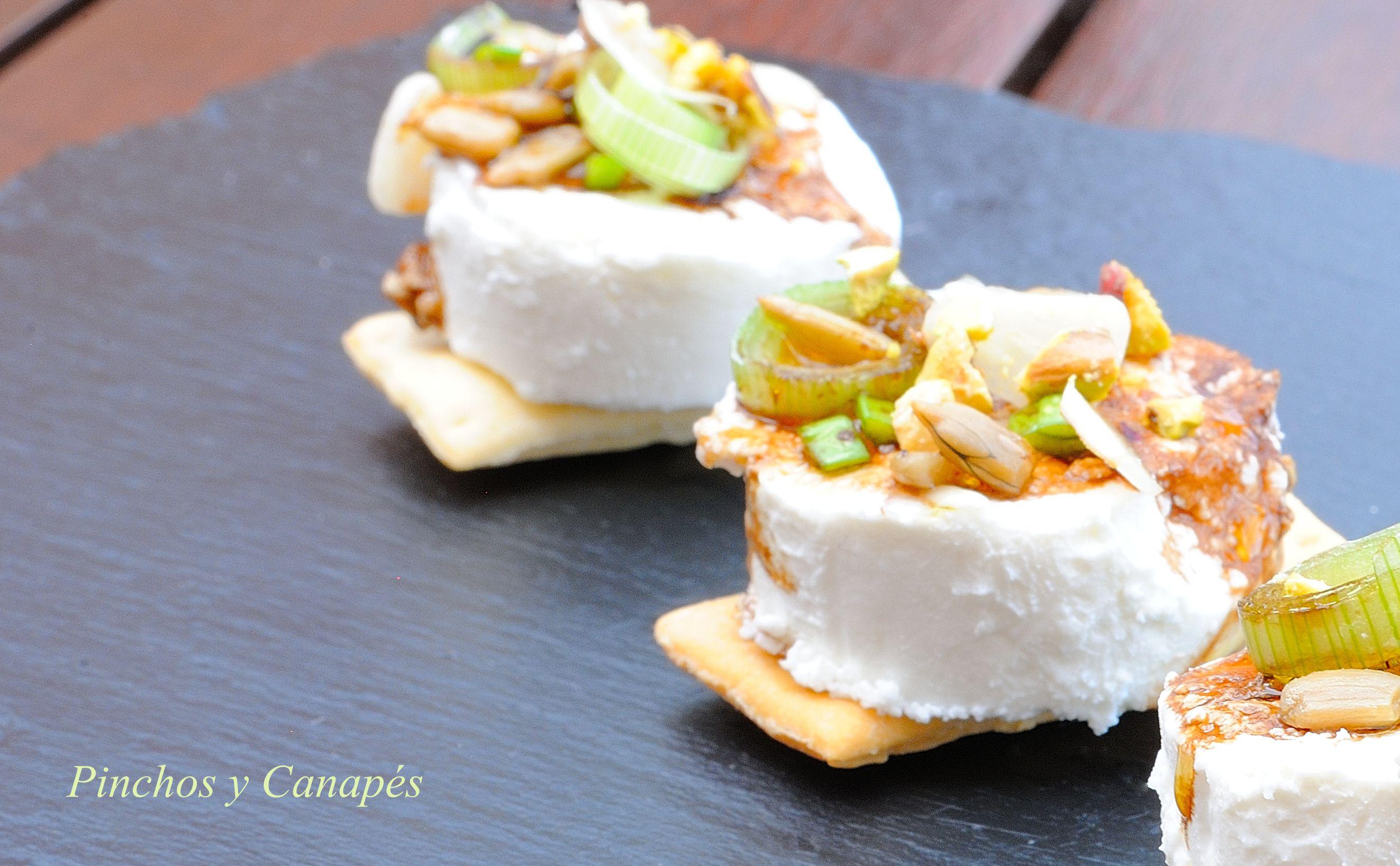 Aperitivo f cil con queso de cabra pinchos canap s - Queso de cabra y colesterol ...