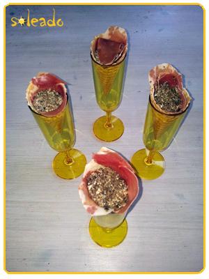 Soleado - Cucuruchos de jamón relleno
